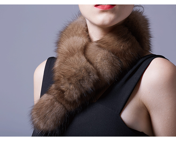 Sable Fur Scarf 071 Details 5
