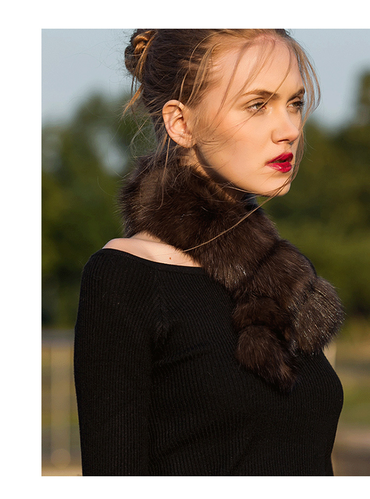 Sable Fur Scarf 071 Details 8