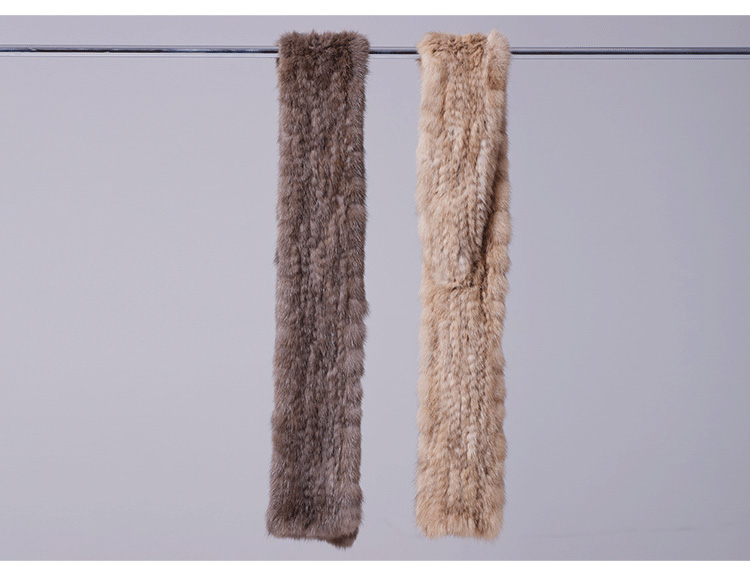 Knitted Sable Fur Scarf 073 Details 1