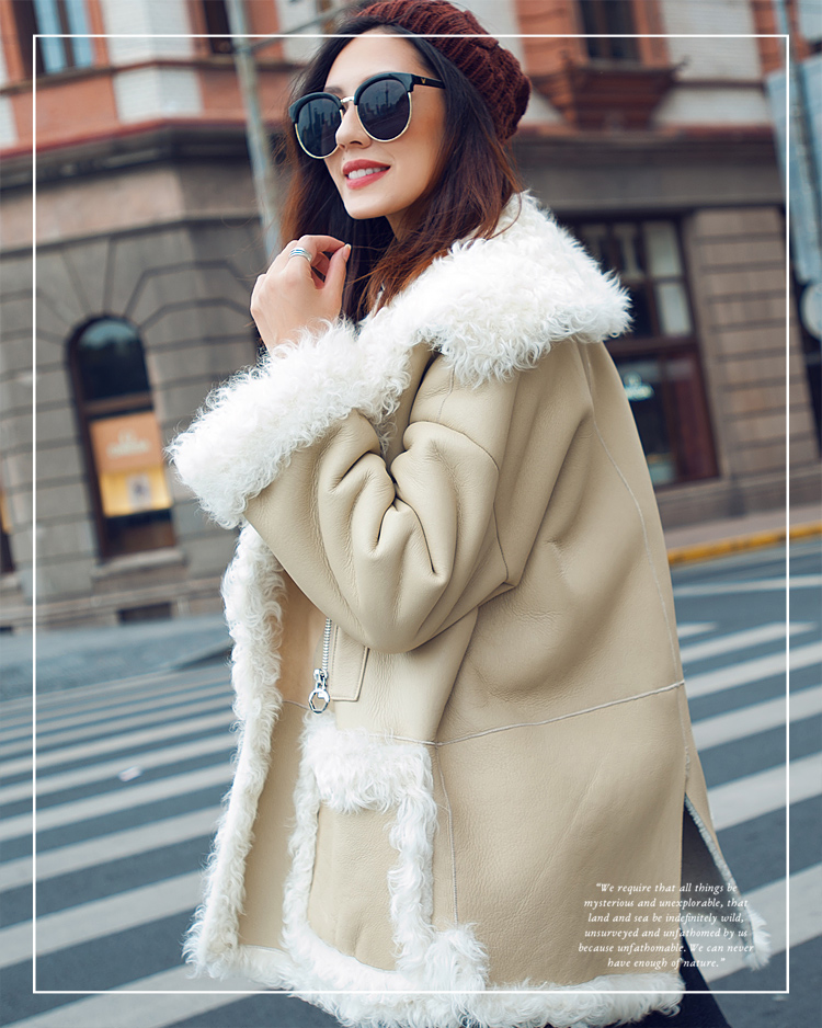 Merino Shearling Sheepskin Lamb Wool Jacket 096 Details 2