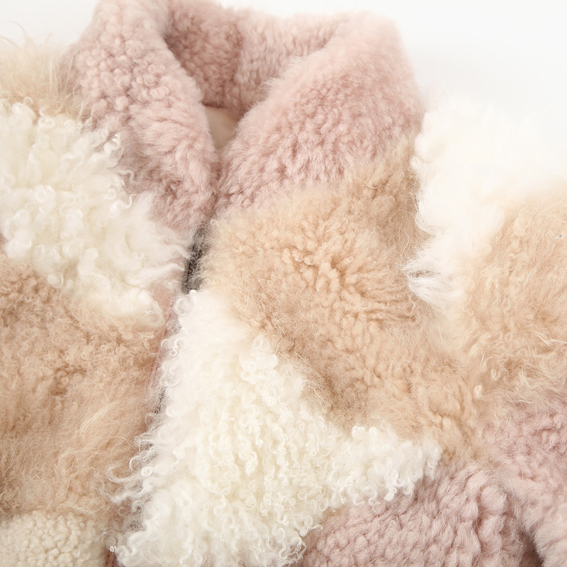 Shearling Sheep Fur Jacket 097 Details 10