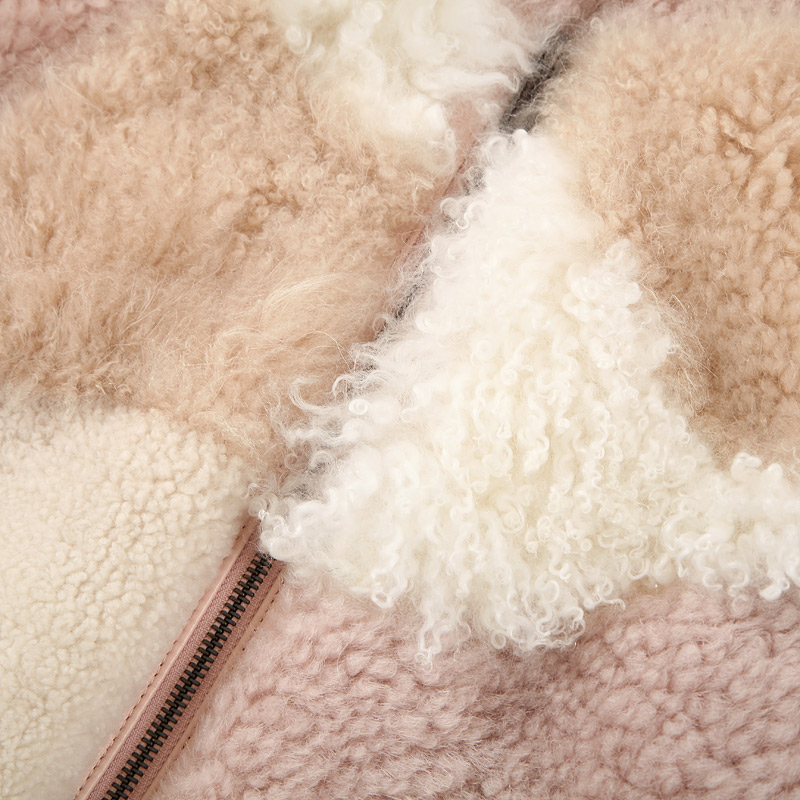 Shearling Sheep Fur Jacket 097 Details 11