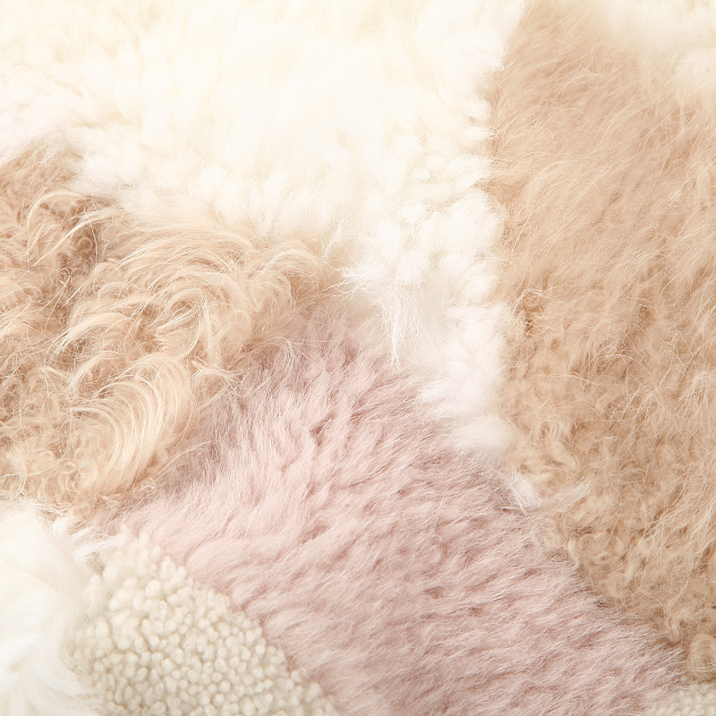 Shearling Sheep Fur Jacket 097 Details 12