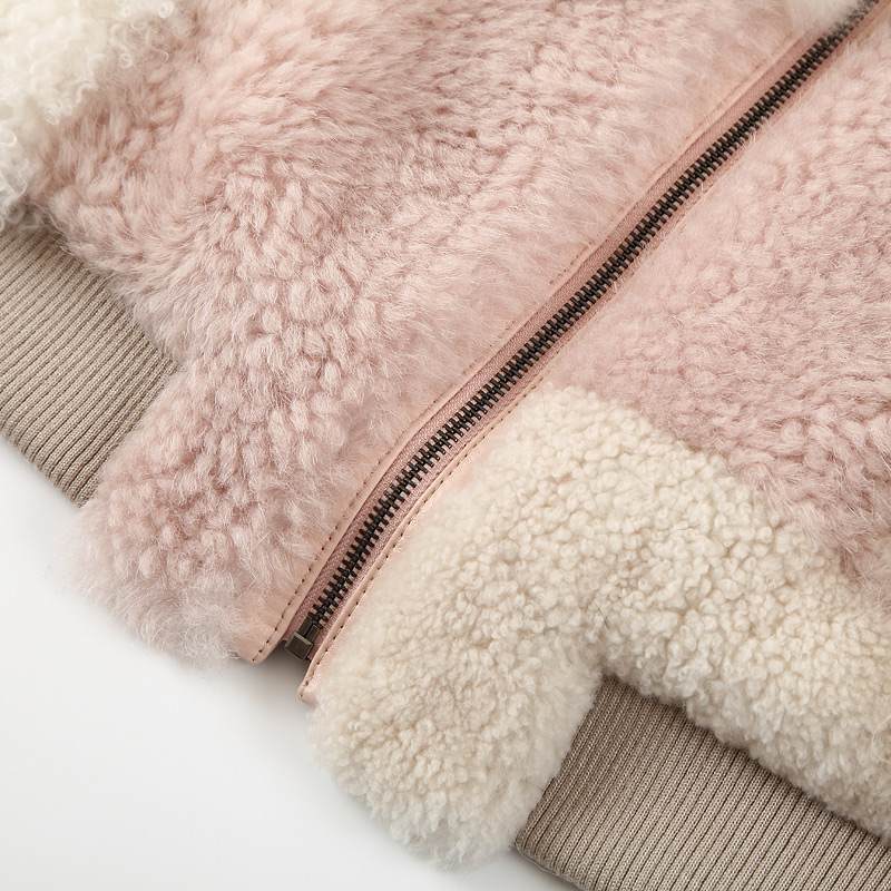 Shearling Sheep Fur Jacket 097 Details 13