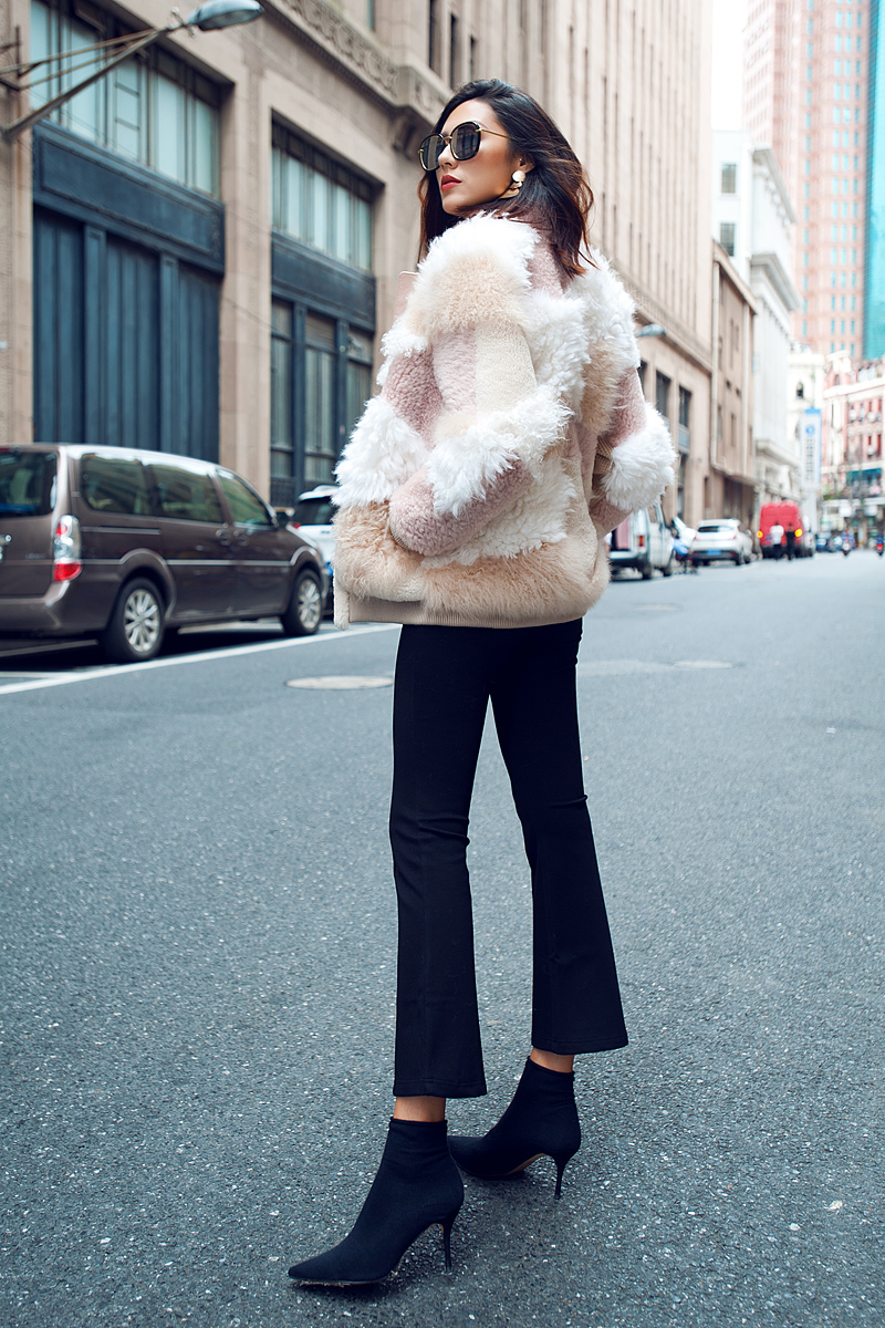 Shearling Sheep Fur Jacket 097 Details 2