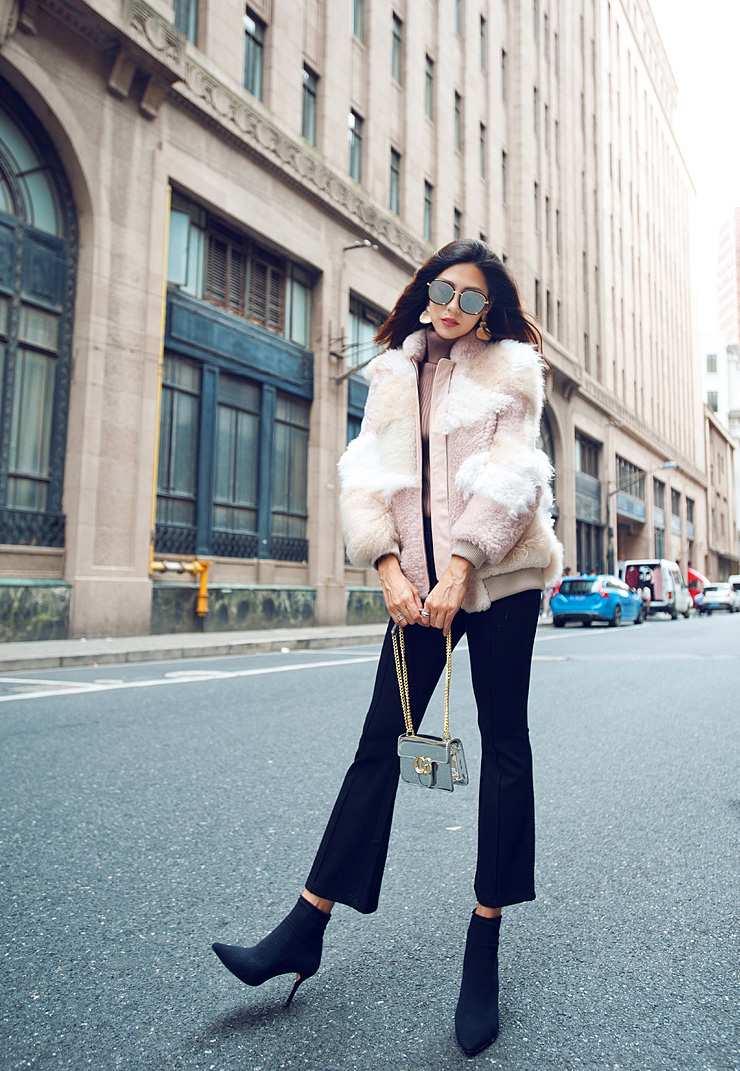 Shearling Sheep Fur Jacket 097 Details 6