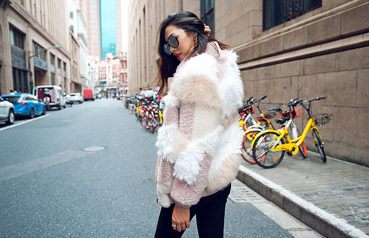 Shearling Sheep Fur Jacket 097 Details 7
