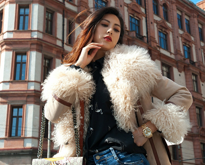 Shearling Sheepskin Jacket 098 Details 1