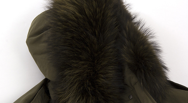 Raccoon Fur Trimmed Hooded Down-filled Parka 112 Details 3