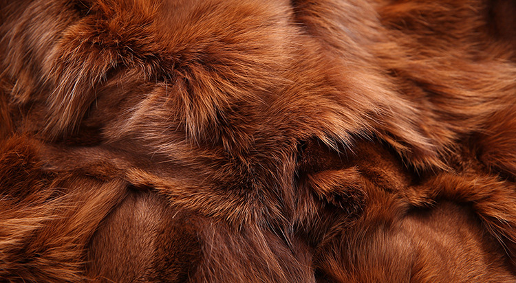 Raccoon Fur Trimmed Hooded Parka with Detachable Fox Fur Liner 113 Details 17
