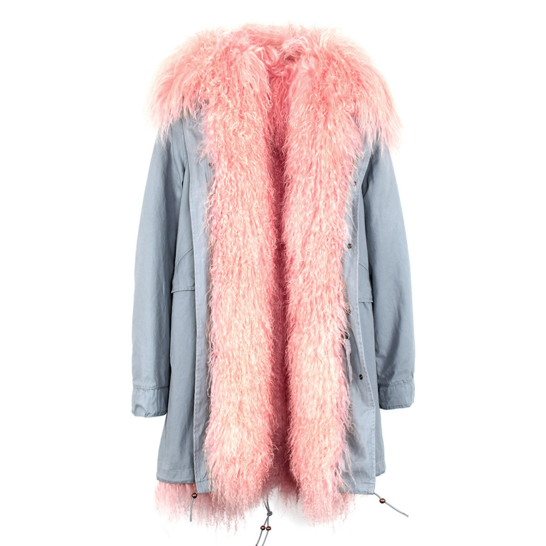 Tibet Sheep Fur Hooded Parka 119 Details 10
