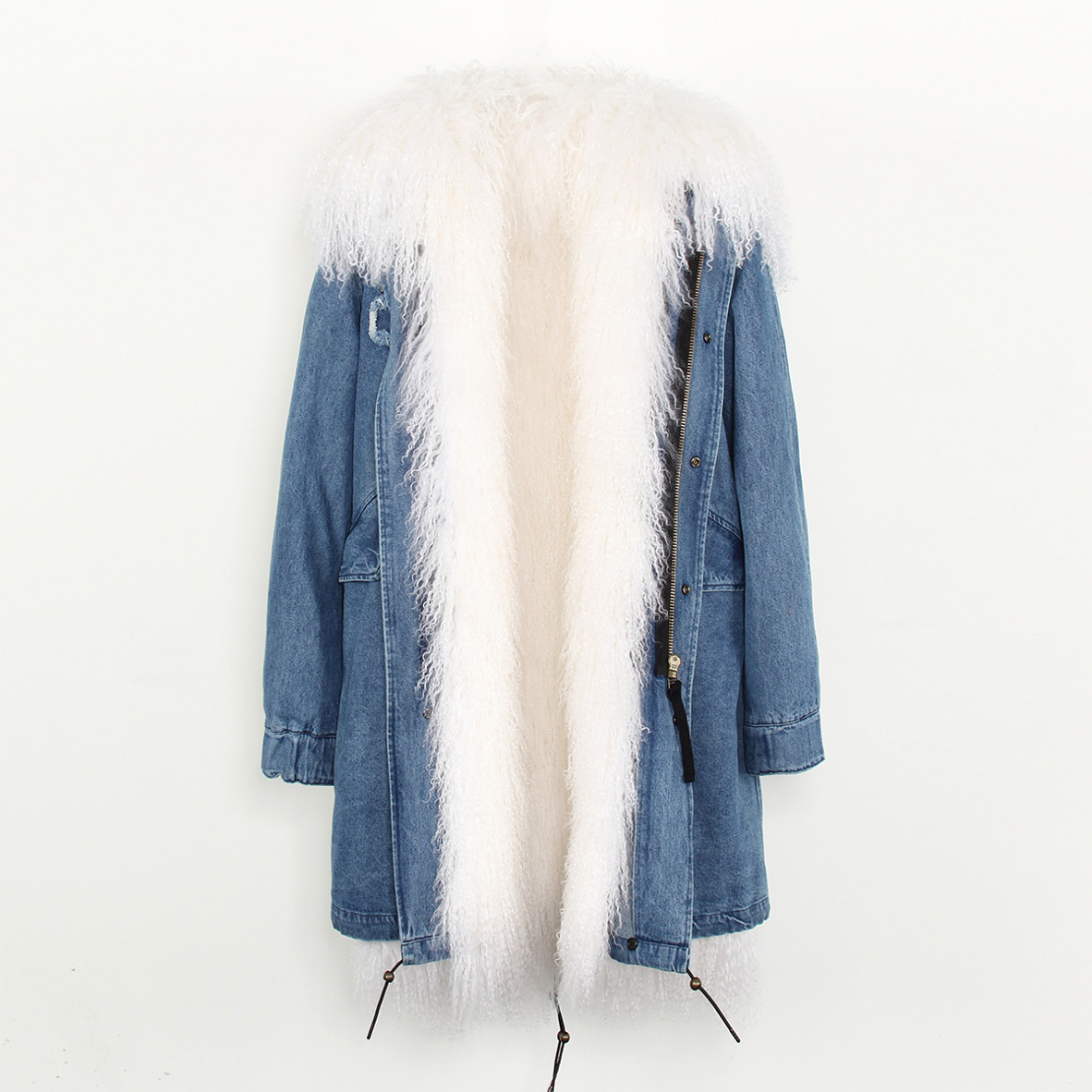 Tibet Sheep Fur Hooded Parka 119 Details 11