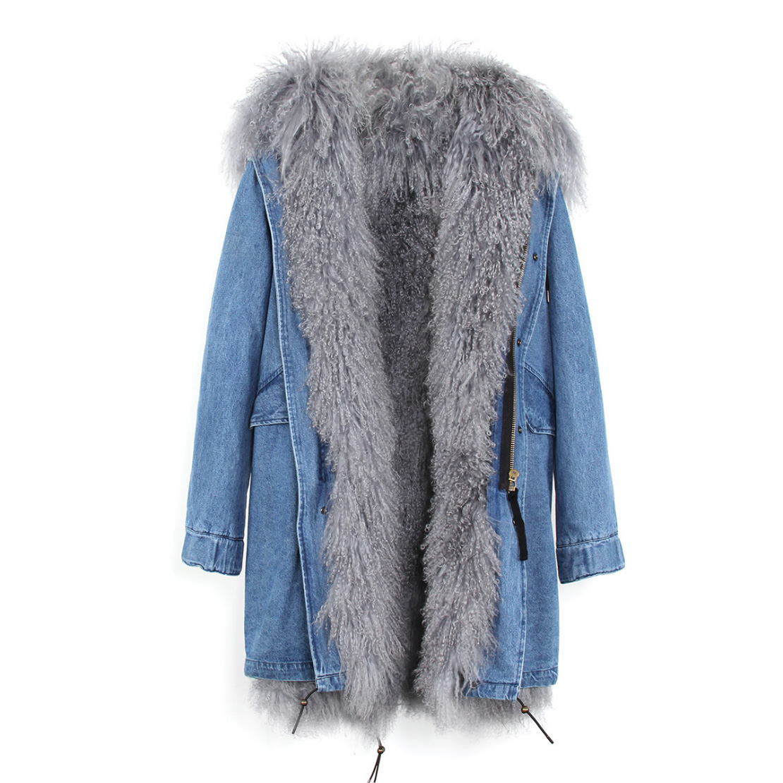 Tibet Sheep Fur Hooded Parka 119 Details 12