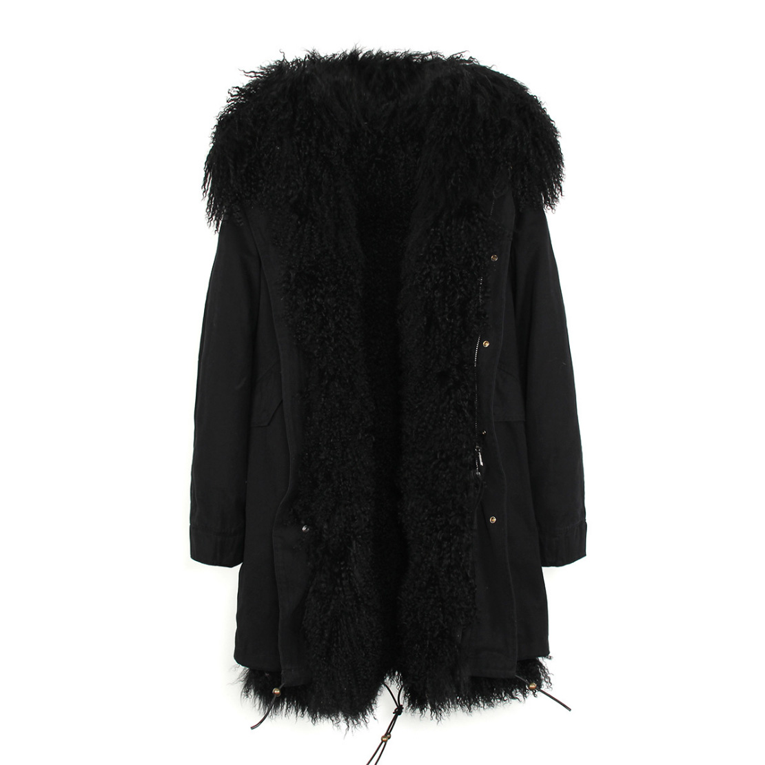 Tibet Sheep Fur Hooded Parka 119 Details 13