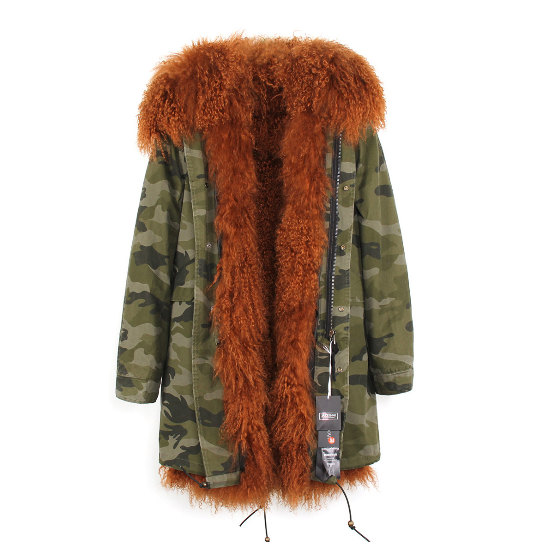 Tibet Sheep Fur Hooded Parka 119 Details 14