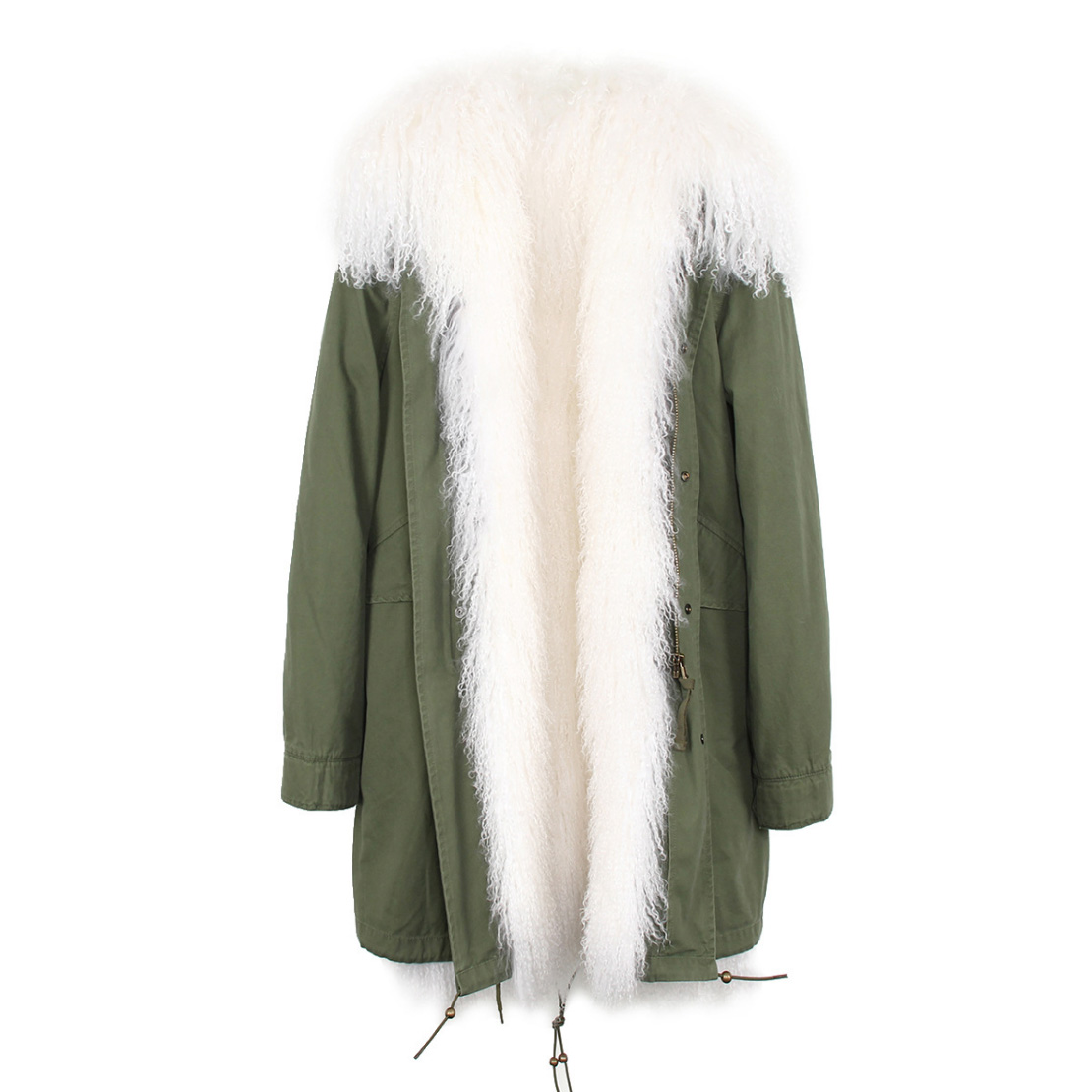 Tibet Sheep Fur Hooded Parka 119 Details 16