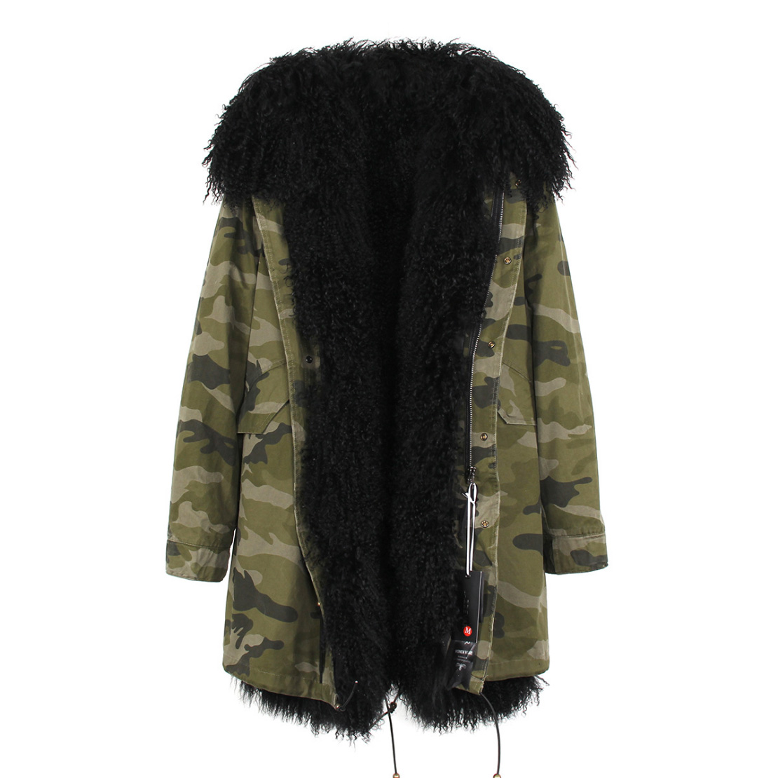Tibet Sheep Fur Hooded Parka 119 Details 18