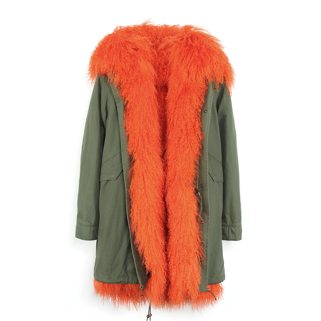 Tibet Sheep Fur Hooded Parka 119 Details 2