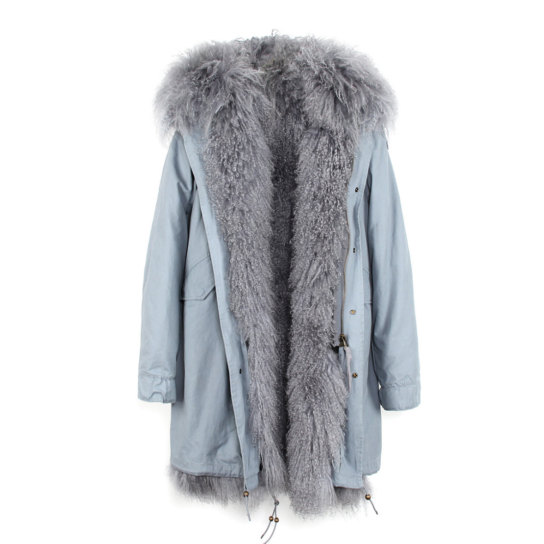 Tibet Sheep Fur Hooded Parka 119 Details 3