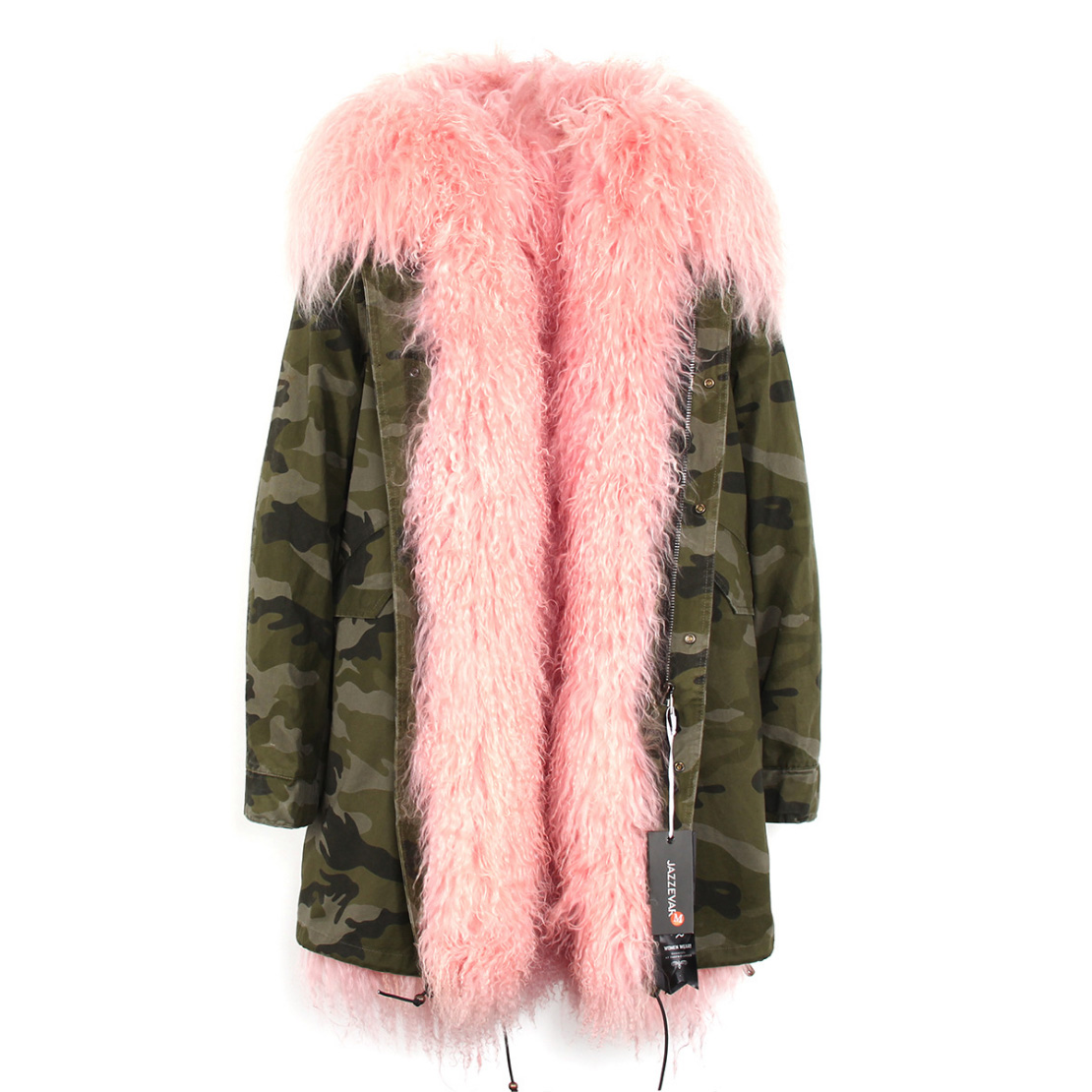 Tibet Sheep Fur Hooded Parka 119 Details 4