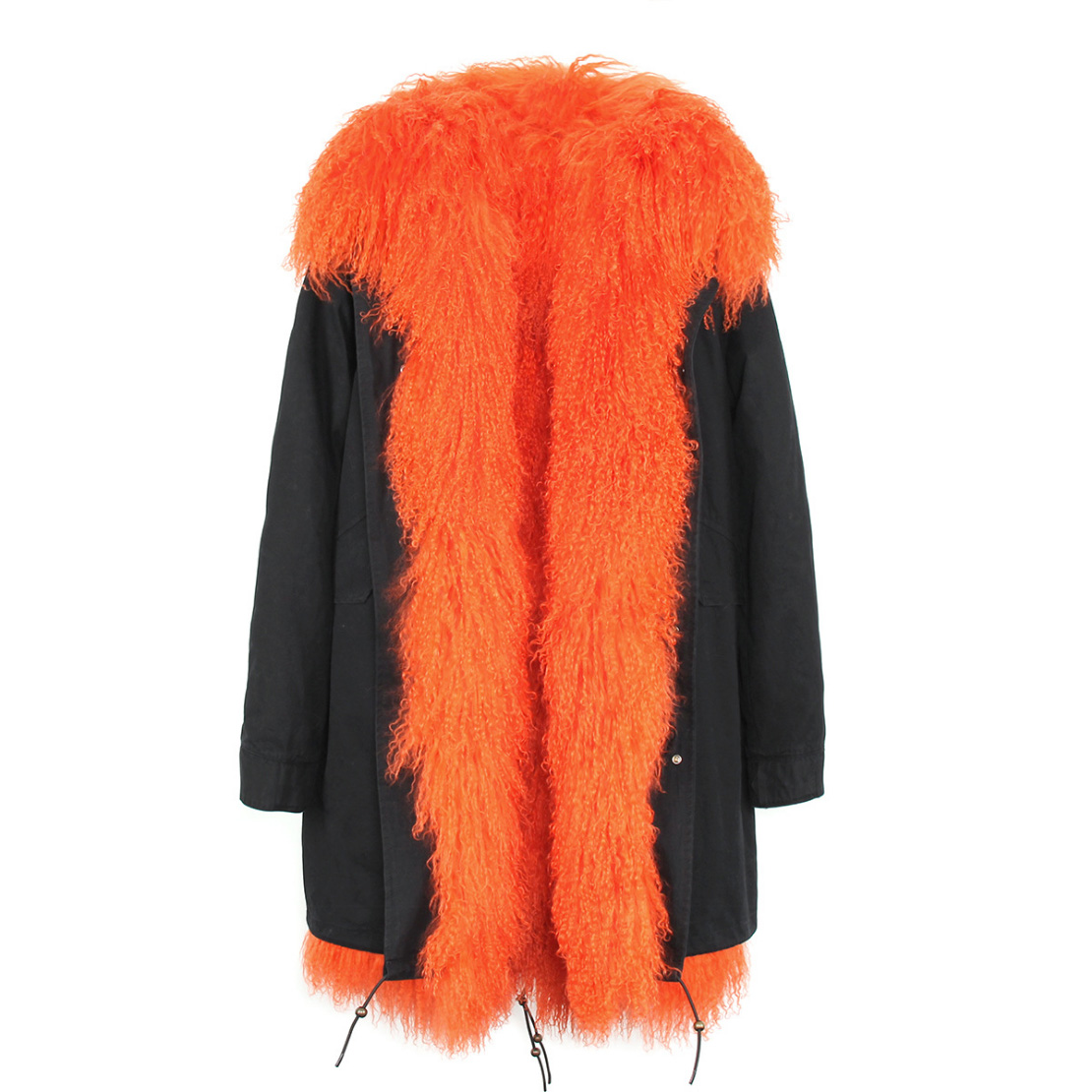 Tibet Sheep Fur Hooded Parka 119 Details 5