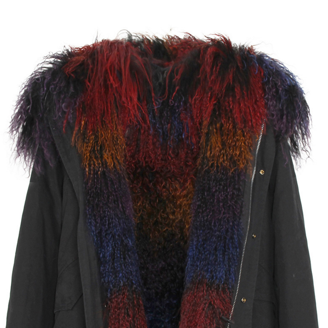 Tibet Sheep Fur Hooded Parka 119 Details 6