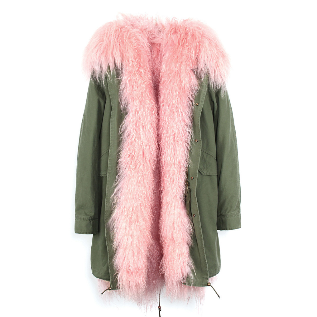 Tibet Sheep Fur Hooded Parka 119 Details 7
