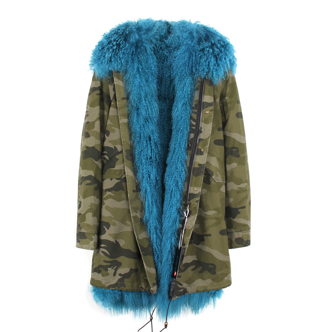 Tibet Sheep Fur Hooded Parka 119 Details 8