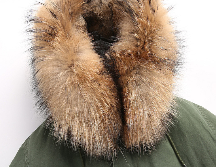 Raccoon Fur Trimmed Hooded Parka with Detachable Rabbit Fur Liner 122 Details 11