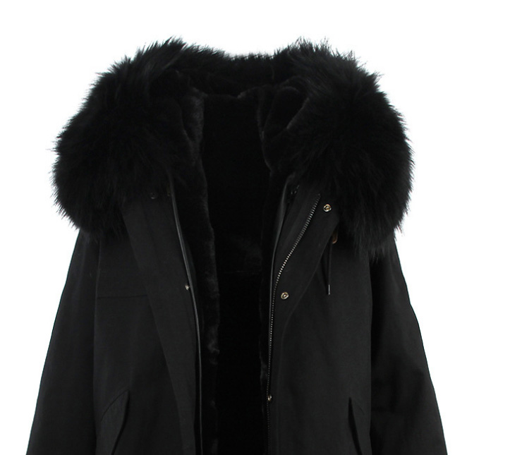 Raccoon Fur Trimmed Hooded Long Parka with Detachable Liner 123 Details 20