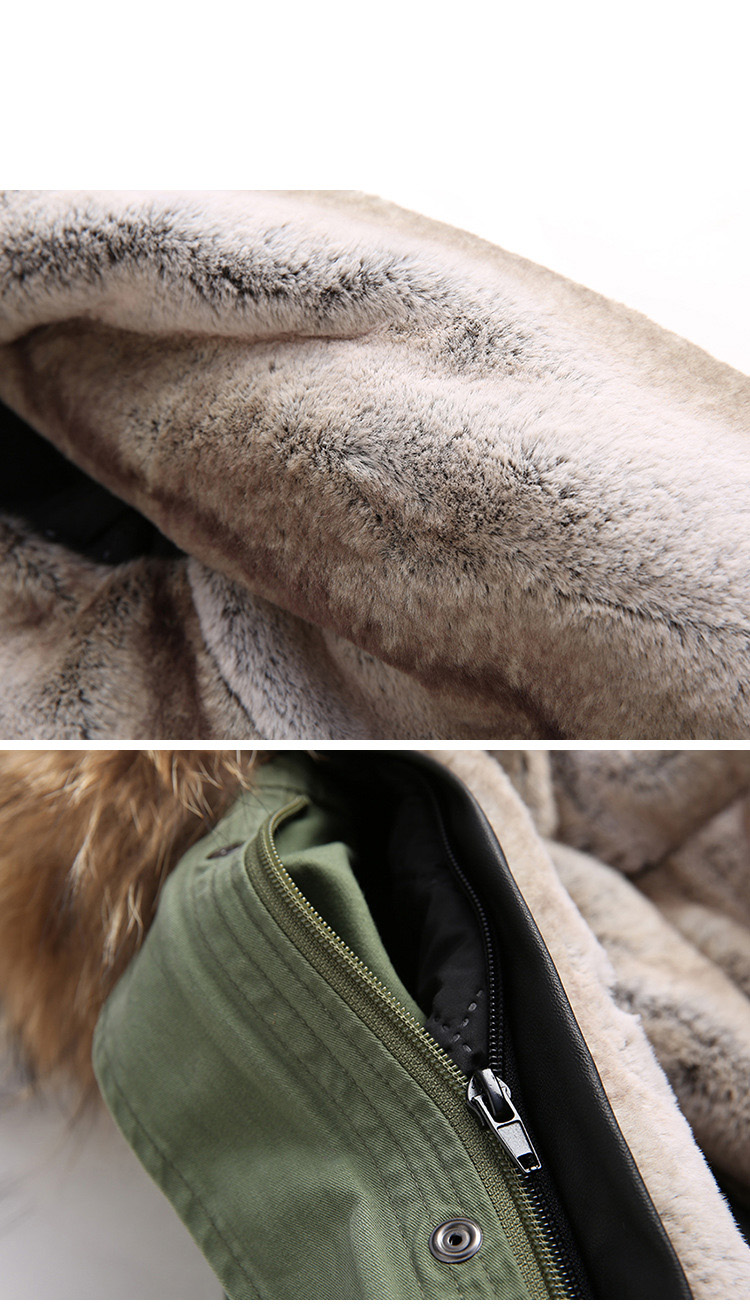 Raccoon Fur Trimmed Hooded Long Parka with Detachable Liner 123 Details 21