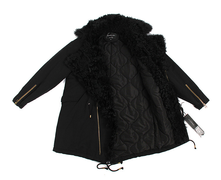 Lamb Fur Trimmed Parka with Quilted Liner 124 Details 4