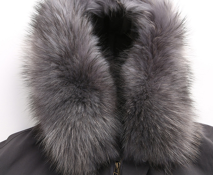 Raccoon Fur Trimmed Hooded Down-filled Parka 125 Details 1