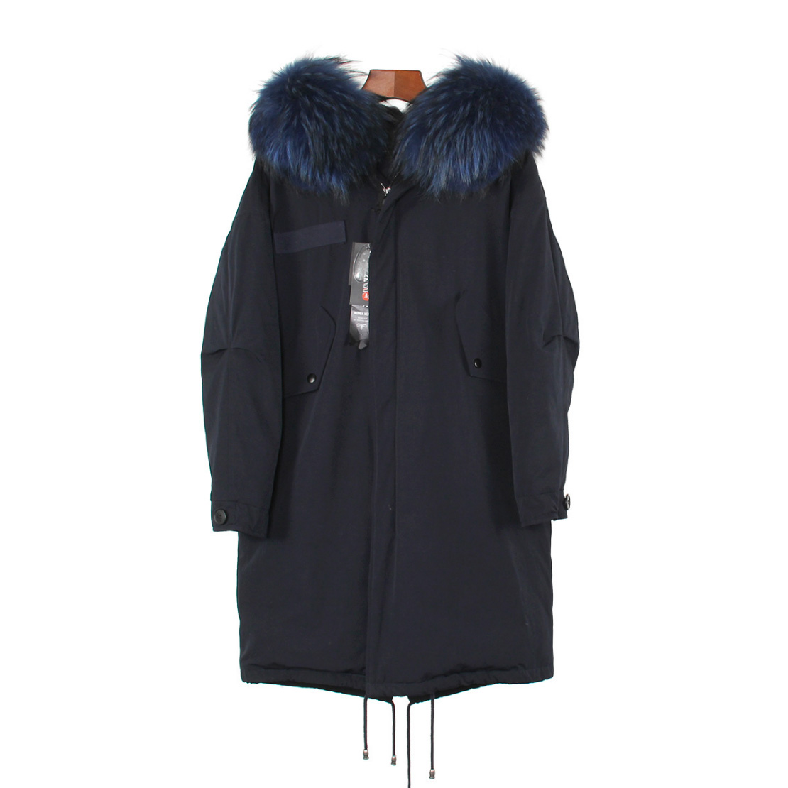 Raccoon Fur Trimmed Hooded Down-filled Parka 125 Details 15