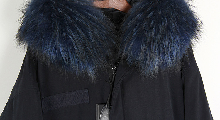 Raccoon Fur Trimmed Hooded Down-filled Parka 125 Details 9