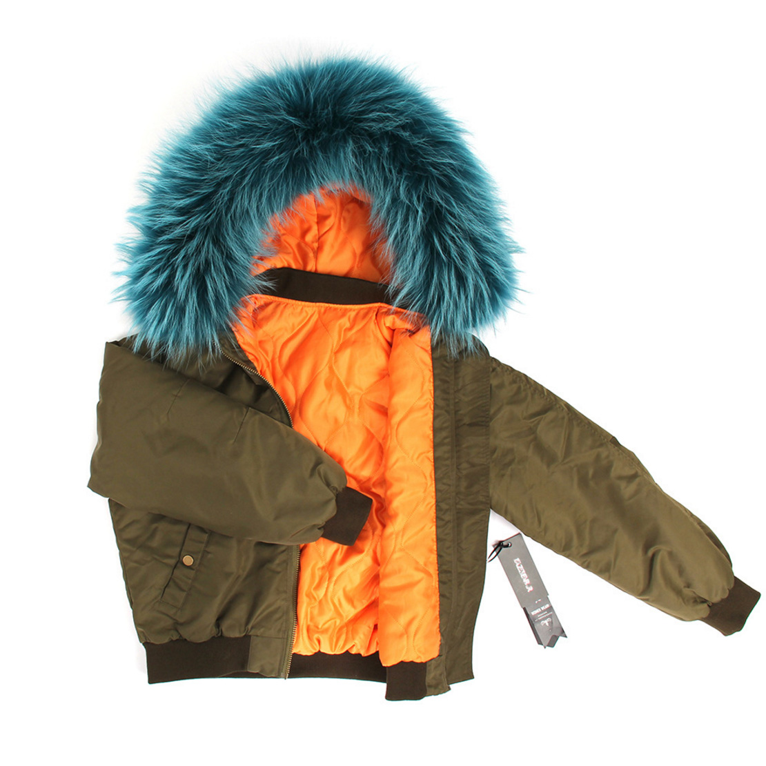 Raccoon Fur Trimmed Hooded Cotton-padded Jacket 129 Details 1