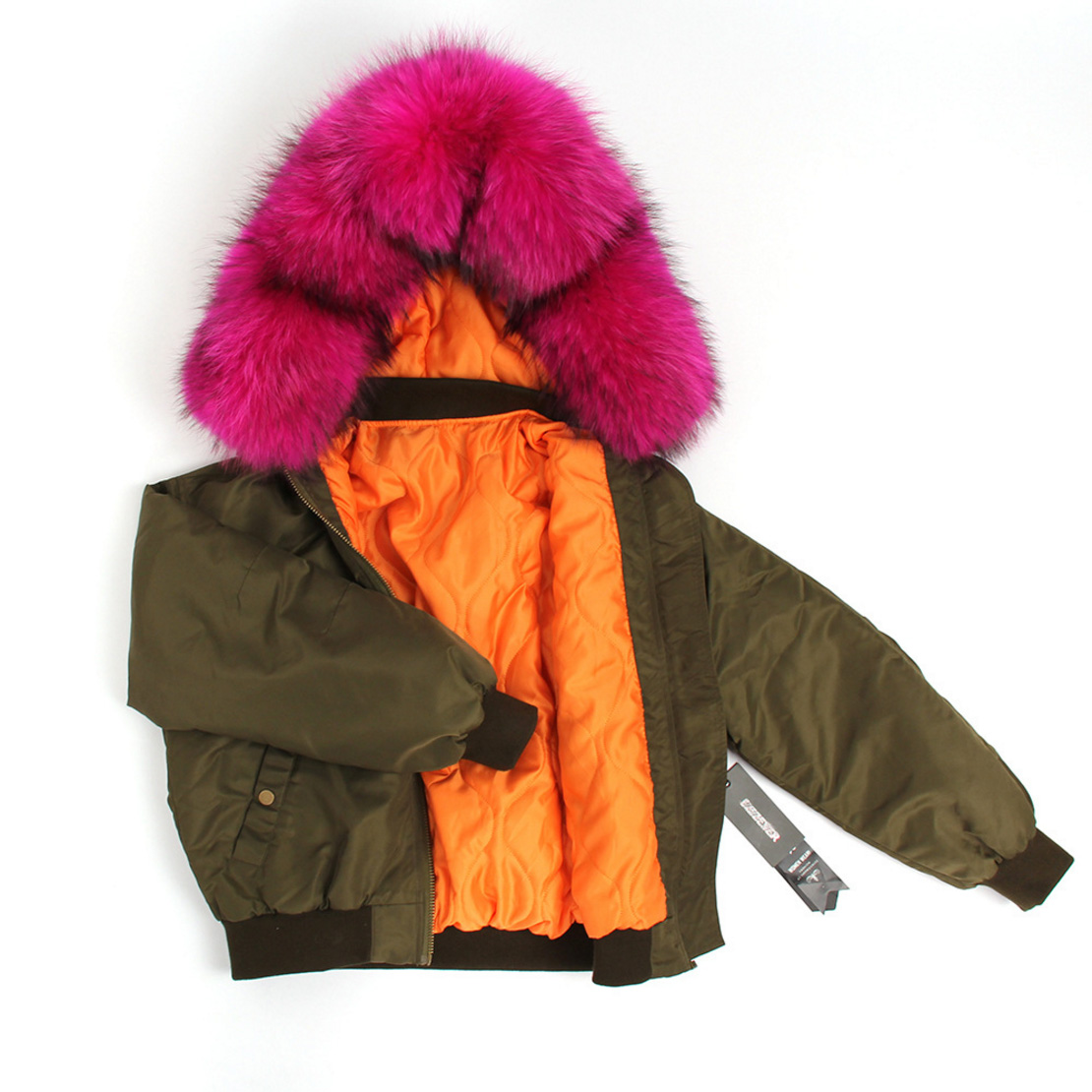 Raccoon Fur Trimmed Hooded Cotton-padded Jacket 129 Details 2