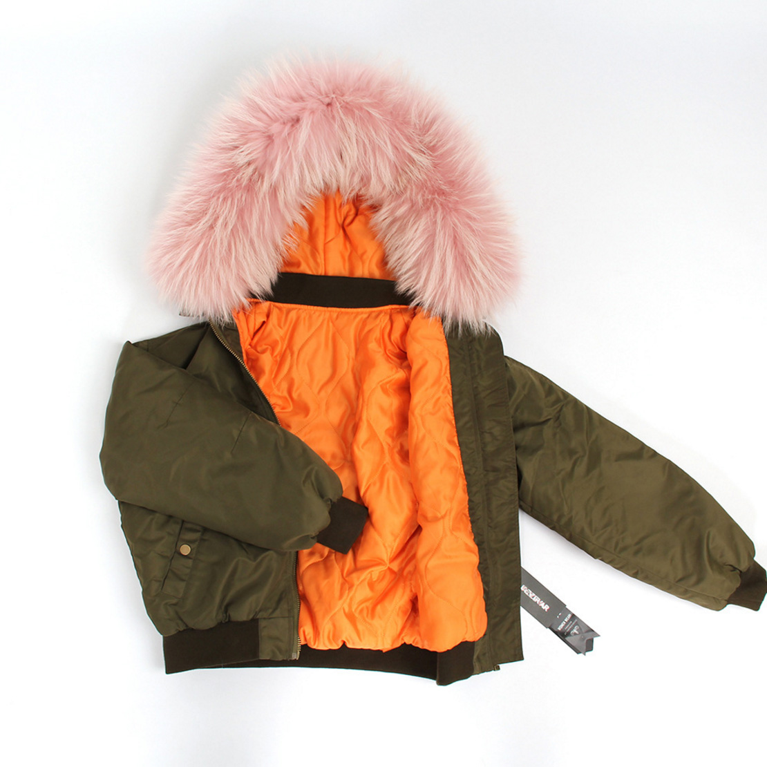 Raccoon Fur Trimmed Hooded Cotton-padded Jacket 129 Details 3