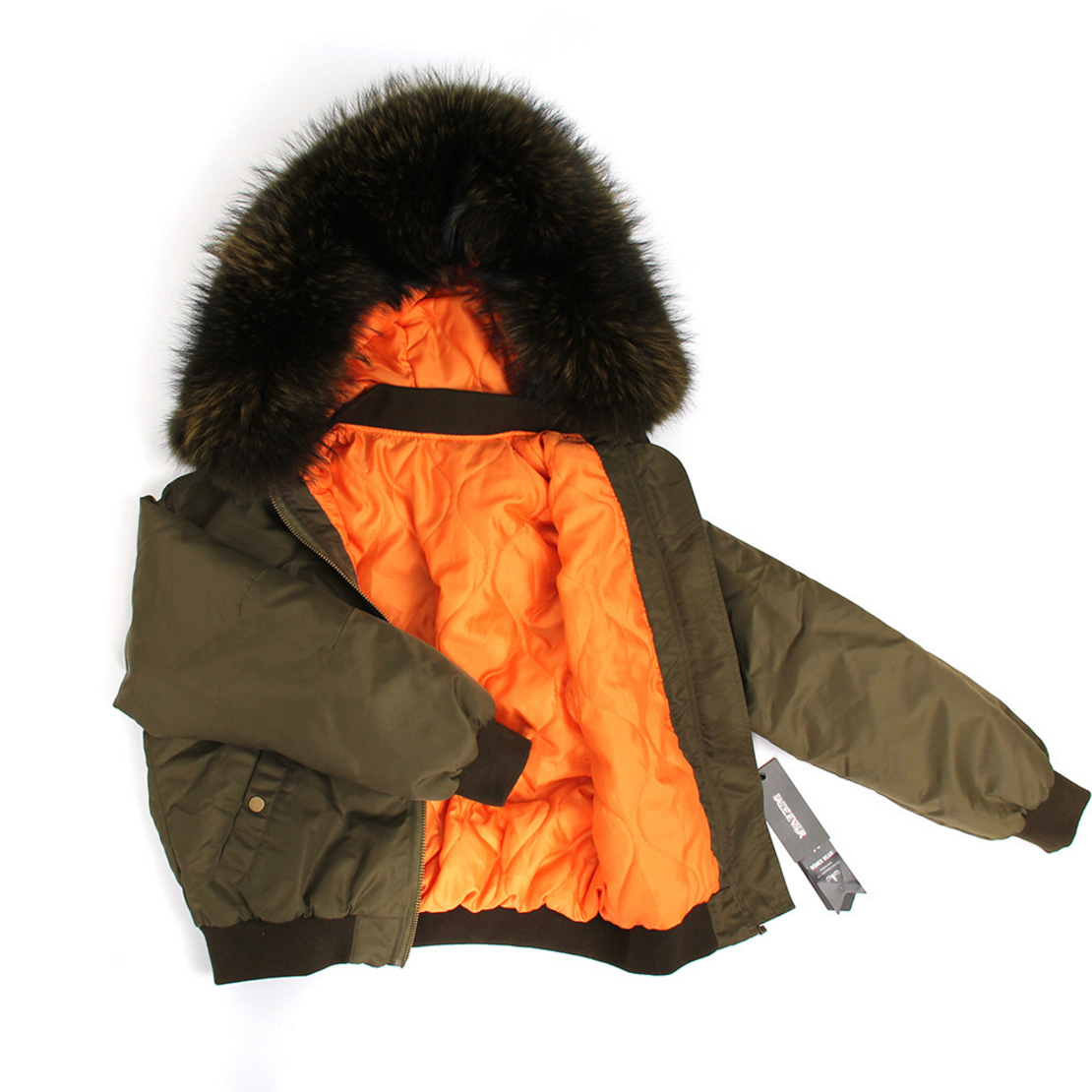 Raccoon Fur Trimmed Hooded Cotton-padded Jacket 129 Details 4