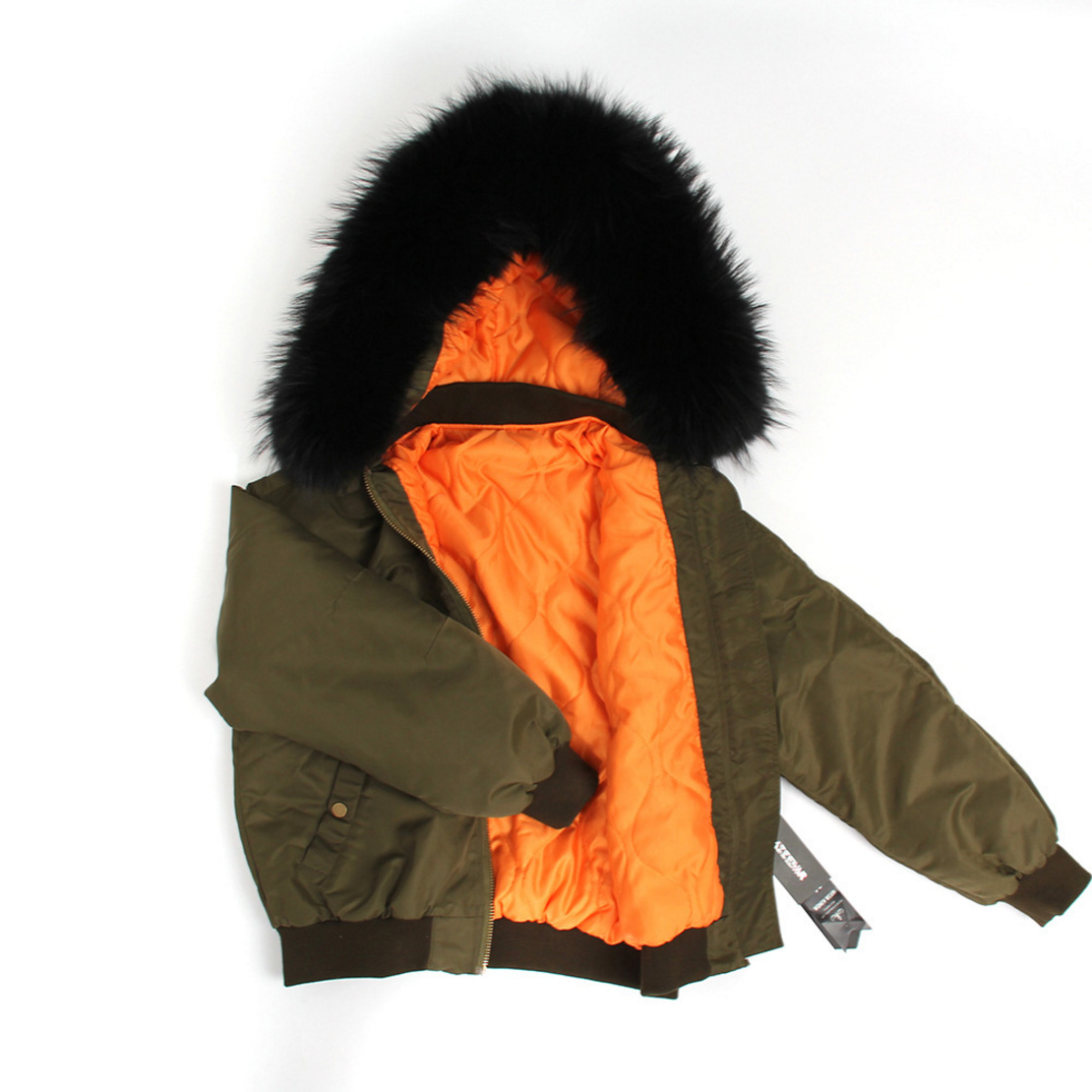 Raccoon Fur Trimmed Hooded Cotton-padded Jacket 129 Details 6
