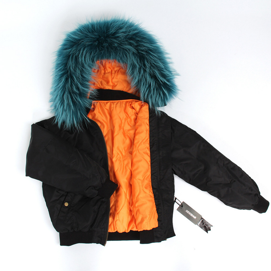Raccoon Fur Trimmed Hooded Cotton-padded Jacket 129 Details 7