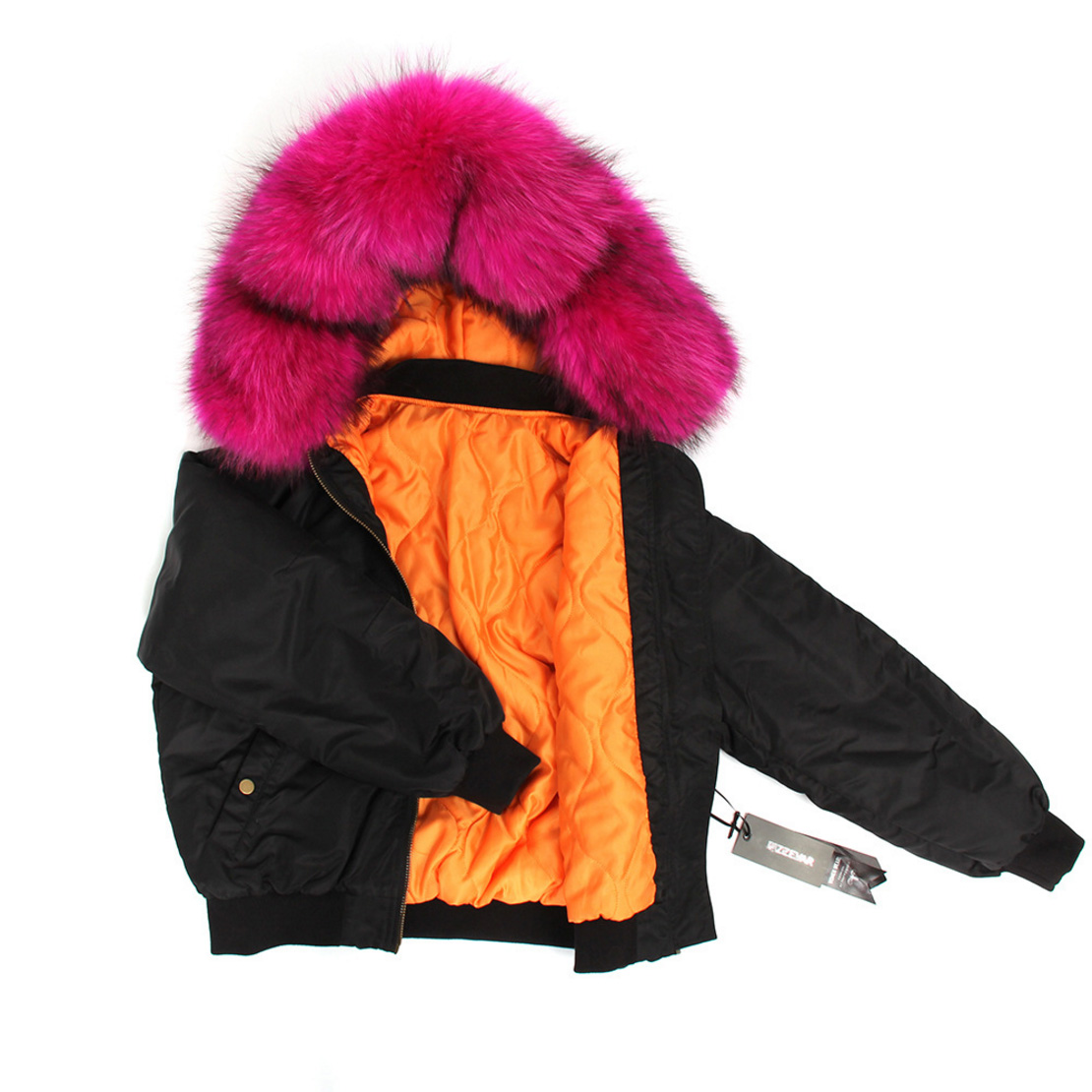 Raccoon Fur Trimmed Hooded Cotton-padded Jacket 129 Details 8