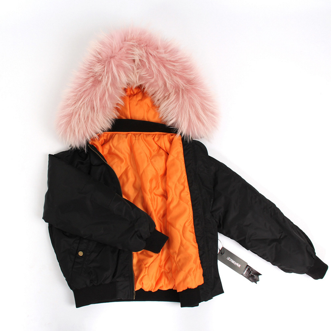 Raccoon Fur Trimmed Hooded Cotton-padded Jacket 129 Details 9