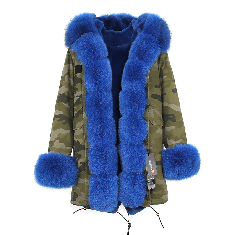 Fox Fur Trimmed Hooded Parka with Detachable Liner 133-1