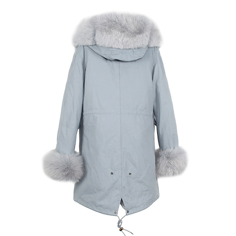 Fox Fur Trimmed Hooded Parka with Detachable Liner 133-10