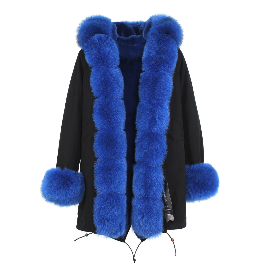 Fox Fur Trimmed Hooded Parka with Detachable Liner 133-12