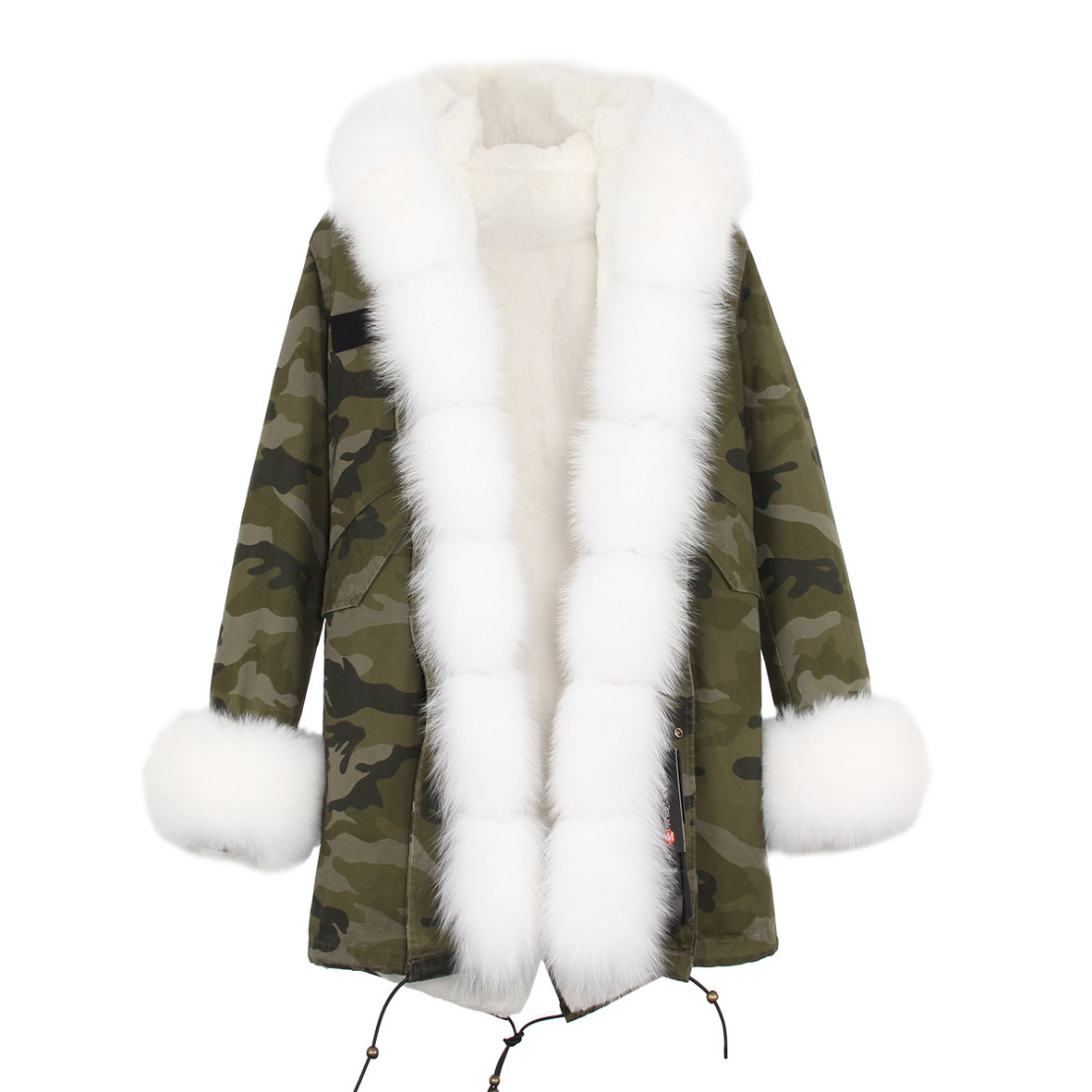 Fox Fur Trimmed Hooded Parka with Detachable Liner 133-4