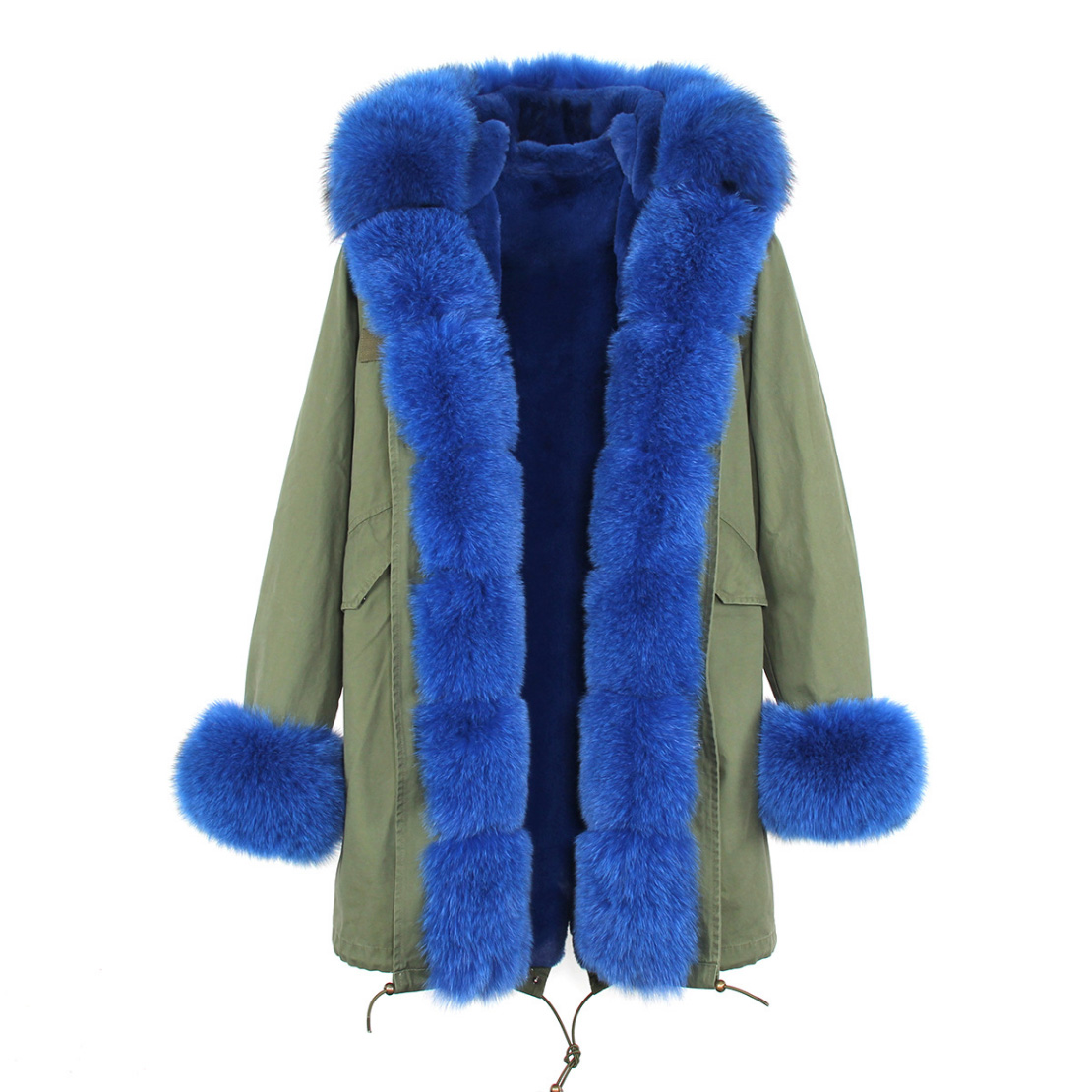 Fox Fur Trimmed Hooded Parka with Detachable Liner 133-5