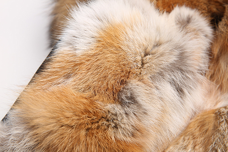 Raccoon Fur Trimmed Hooded Parka with Detachable Fox Fur Liner 134d Details 3