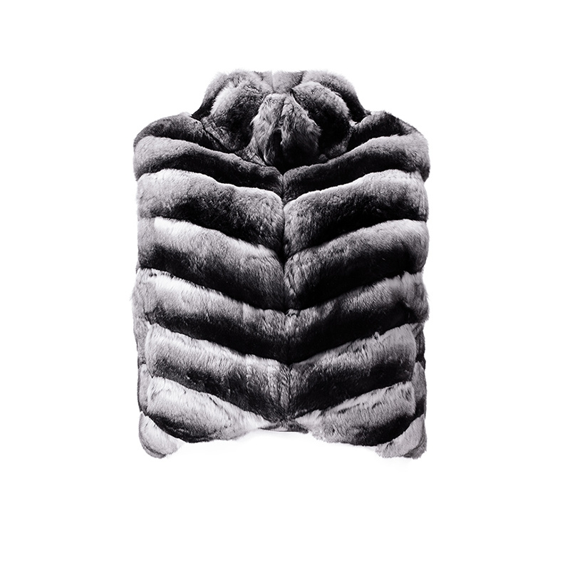 Cropped Chinchilla Fur Vest 171 Details 3